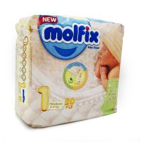پوشک مولفیکس سایز ۱ نوزادی(۲۰عددی)