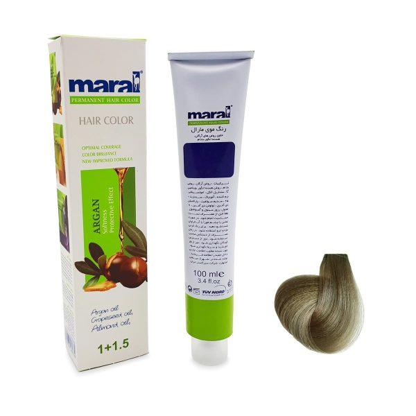 رنگ موی مارال سری دودی بلوند دودی روشن شماره ۱-۸ حجم 100 میلی لیتر
