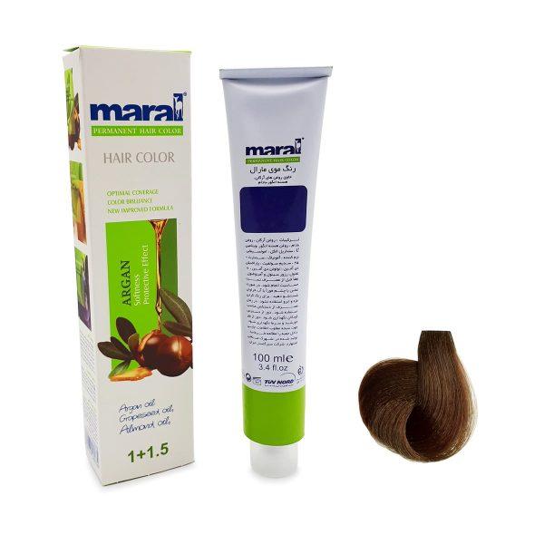 رنگ موی مارال سری شکلاتی قهوه ای شکلاتی متوسط شماره ۸-۴ حجم 100 میلی لیتر