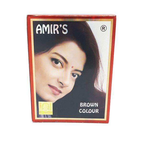 حنا هندی AMIR'S رنگ قهوه ای حاوی ۶ بسته با وزن ۱۰ گرم