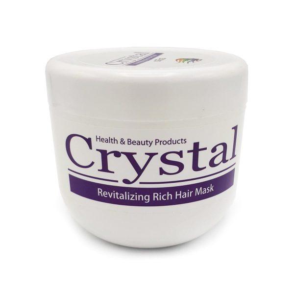 ماسک مو مغذی و نرم کننده (با آبکشی) کریستال حجم ۵۰۰ میلی لیتر