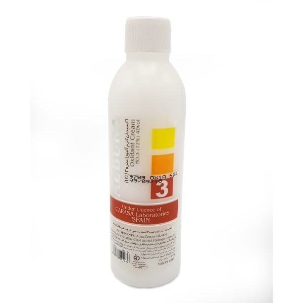اکسیدان کرم آلبورا ۱۲% -نمره ۳حجم ۱۲۰ میلی لیتر