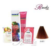 رنگ موی بدون آمونیاک مارال فیوژن سری VIBRANCE- آکاژو- شماره ۶۸۱-۶ حجم ۱۰۰ میلی لیتر