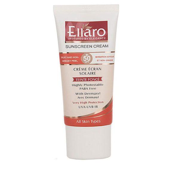 کرم ضدآفتاب الارو SPF50 مناسب برای انواع پوست حجم ۵۰ میلی لیتر
