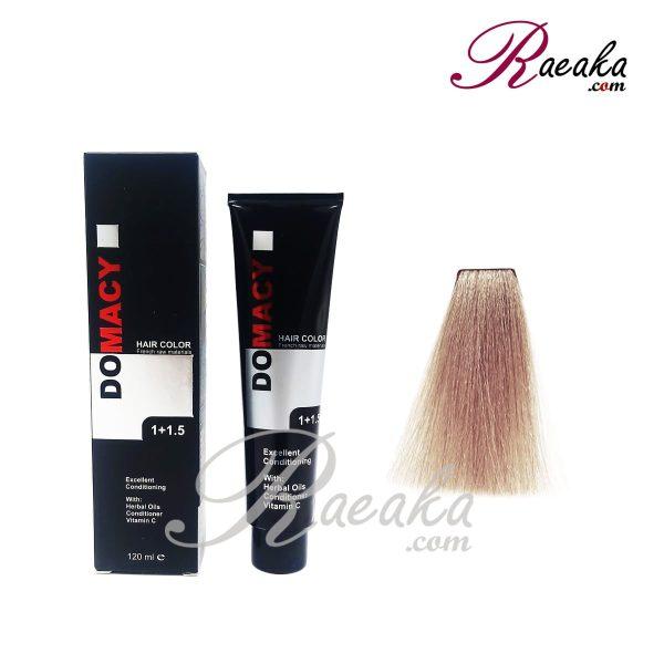 رنگ مو دوماسی سری دودی- بلوند دودی پلاتینه- شماره ۱۰٫۱ حجم ۱۲۰ میلی لیتر