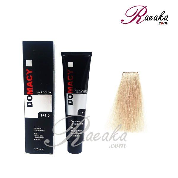 رنگ مو دوماسی سری طبیعی اکسترا- بلوند پلاتینه خیلی خیلی روشن اکسترا- شماره ۱۲٫۰۰ حجم ۱۲۰ میلی لیتر