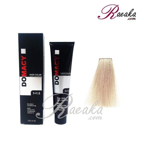 رنگ مو دوماسی سری دودی- بلوند دودی خیلی خیلی روشن- شماره ۱۲٫۱ حجم ۱۲۰ میلی لیتر