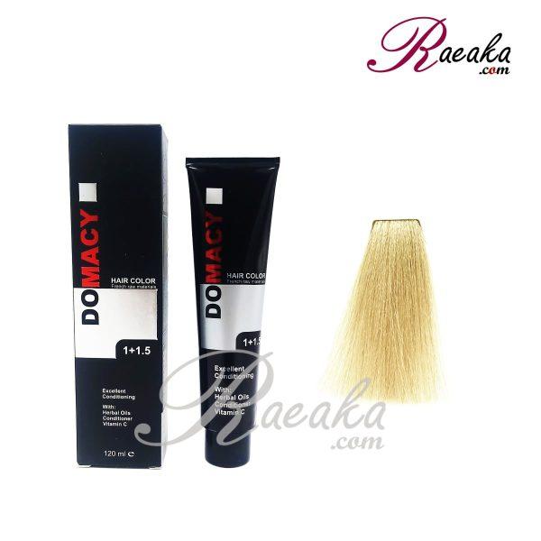 رنگ مو دوماسی سری زیتونی- بلوند زیتونی خیلی خیلی روشن- شماره ۱۲٫۸ حجم ۱۲۰ میلی لیتر