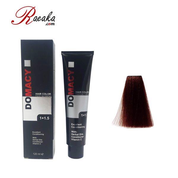 رنگ مو دوماسی سری شاه بلوطی قهوه ای شاه بلوطی تیره ۳٫۷۶ حجم ۱۲۰ میلی لیتر