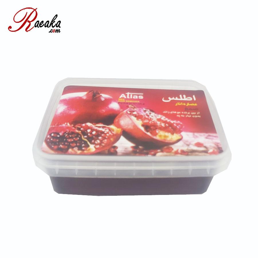 صمغ عربی اطلس با عصاره انار (بدون نیاز به پد) وزن۵۰۰ گرم