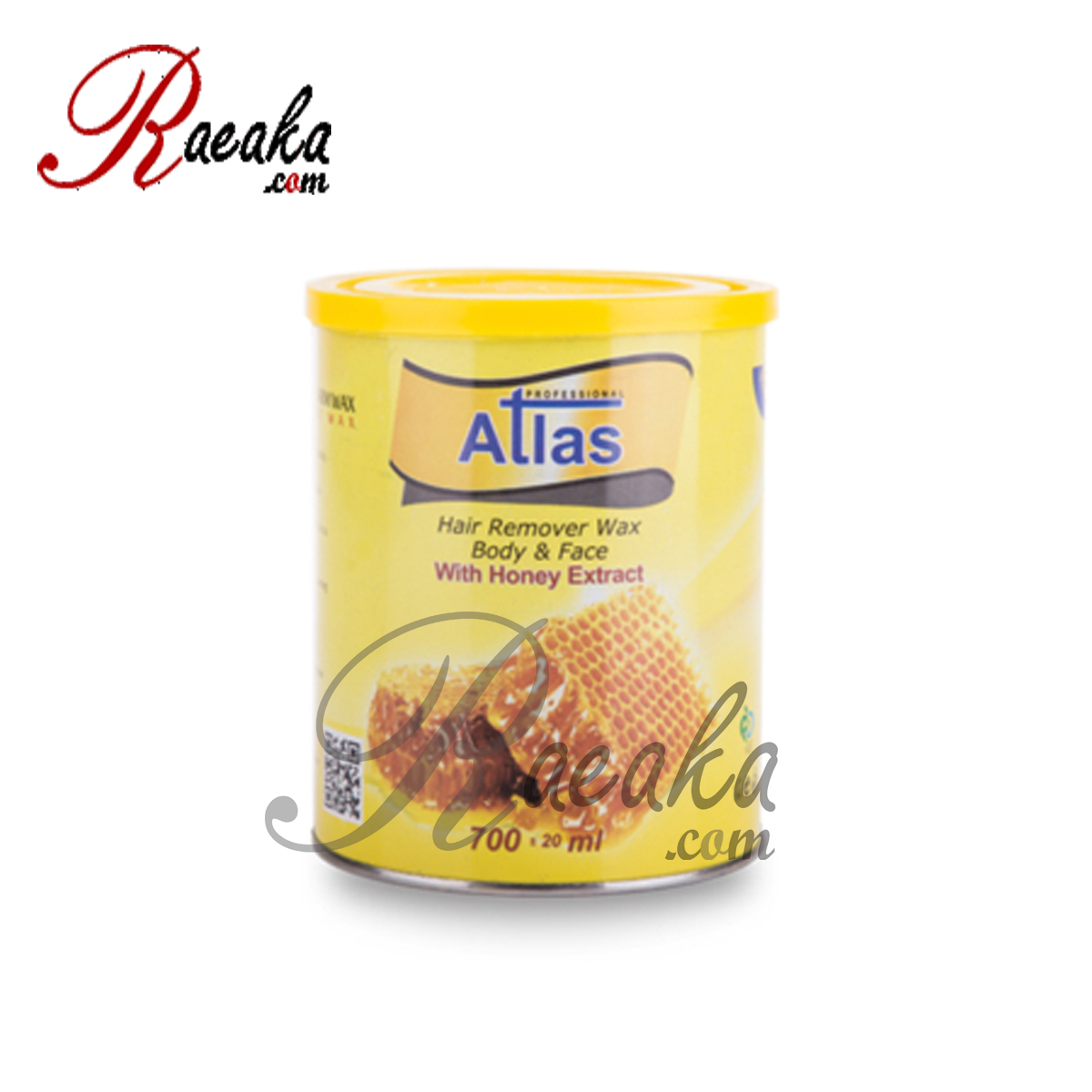 موم دائم کنسروی اطلس با عصاره عسل حجم 700 میلی لیتر
