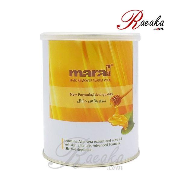 موم اپیلاسیون کنسروی مارال حاوی عصاره عسل مخصوص موهای نرمال وزن ۷۰۰ گرم