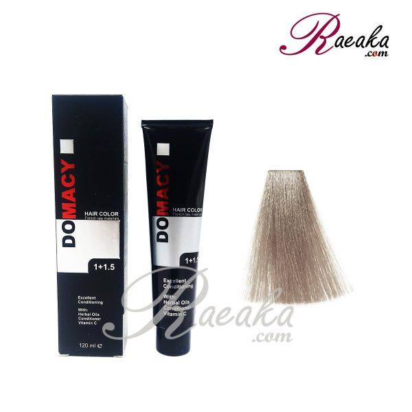 رنگ مو دوماسی سری خاکستری- بلوند خاکستری روشن- شماره ۸٫۱۲ حجم ۱۲۰ میلی لیتر
