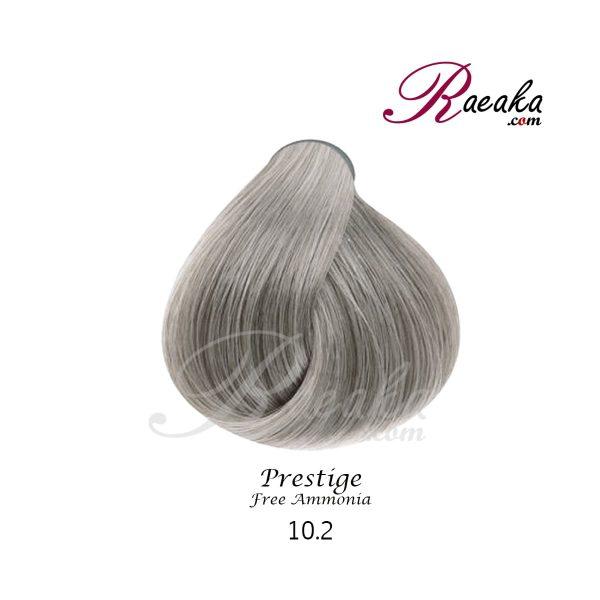 رنگ موی بدون آمونیاک و کراتینه نیو پرستیژ سری دودی- بلوند دودی نقره ای- شماره 10.2 حجم ۱۰۰ میل